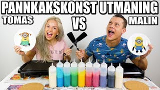 PANNKAKSKONST UTMANING TOMAS VS MALIN