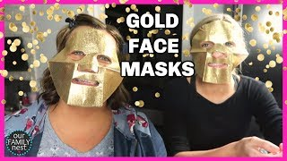 PURE GOLD FACE MASKS! IS SOMEONE FOLLOWING US?