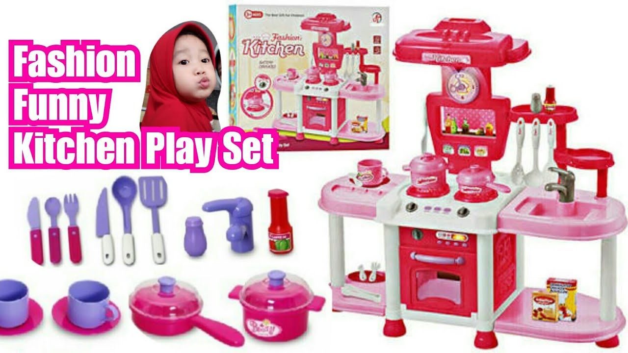 Unboxing Mainan Masak Masakan Besar Fashion Funny Kitchen Play Set Youtube