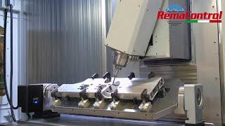 Centro de mecanizado de 4 ejes para perfiles de aluminio por extrusión