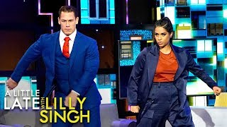 John Cena Does John Cena Dance Challenge with Lilly
