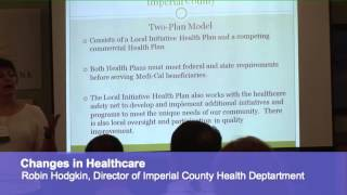 AHF ACA Workshop: Robin Hodgkin, Director of Imperial County Health Department