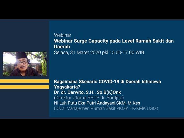 Webinar Surge Capacity : Bagaimana Skenario COVID 19 di Daerah Istimewa Yogyakarta?