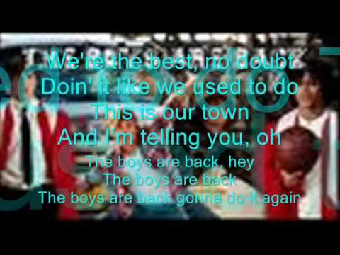 The boys are back lyrics