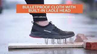 Mens Work Boots Safety Shoes Steel Toe Cap Sneakers Waterproof Trekking Outdoor
