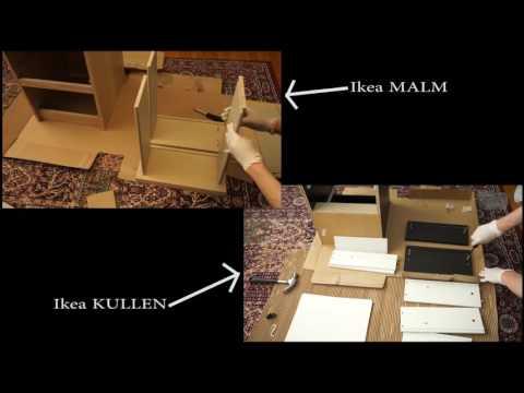 Ikea Kullen Vs Malm Assembled 2 Drawer Chests Youtube