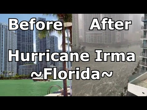 Hurricane Irma - Florida - Before and After ~ Natural disaster