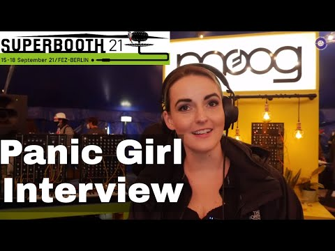 SUPERBOOTH 2021  - Panic Girl Interview At the Moog Big Top