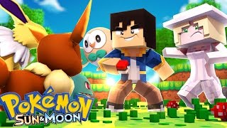 Minecraft : POKEMON SUN & MOON - CAPTUREI MEU PRIMEIRO POKEMON ! #08 [JEAN]