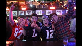 Fans go wild during the New England Patriots AFC Championship win