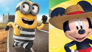 Despicable Me Minion Rush vs Mickey Mouse Clubhouse Farm Animals