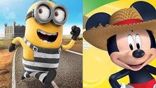 Despicable Me Minion Rush vs Mickey Mouse Clubhouse Farm Animals