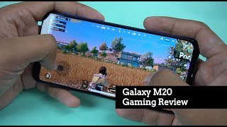 Samsung Galaxy M20 Gaming Review, PUBG Mobile Graphics Settings, Temperature Check, Battery Drain