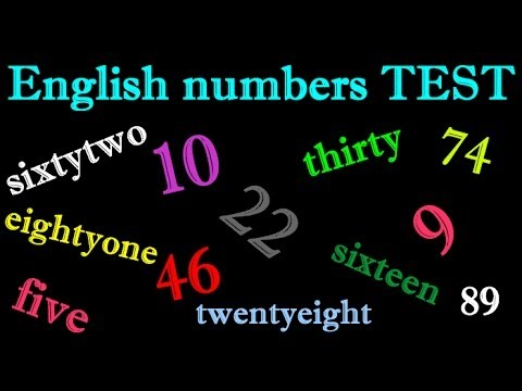 learn english numbers random TEST to 100