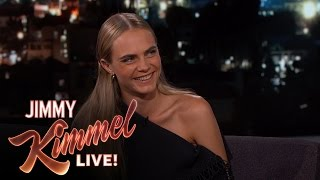 Cara Delevingne Says The Actors in Suicide Squad Are Crazy by : Jimmy Kimmel Live