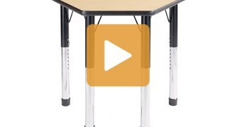 Petal Classroom Desk - Hertz Furniture
