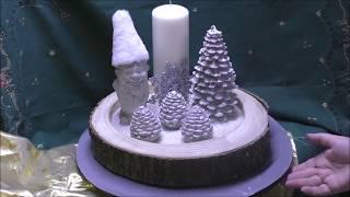 Beton - weihnachtliches winterliches Gesteck