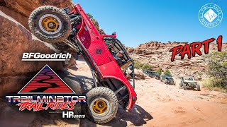 Trailminator Trail Rides - Part 1   Pritchett Canyon, Moab   Easter Jeep Safari