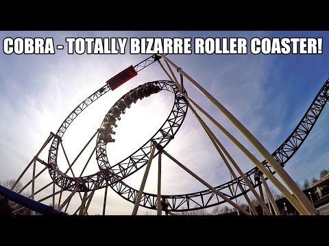 Cobra Roller Coaster POV Crazy Shuttle Loop Connyland Switzerland