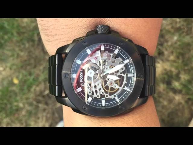 fossil watch slowmo