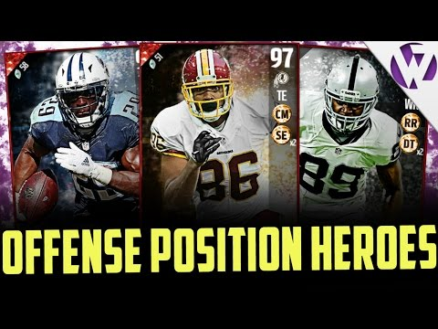 MADDEN 17 OFFENSIVE POSITION HEROES!!! ARE THESE CARDS WORTH IT OR UNDERWHELMING?