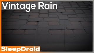 ► Vintage Heavy Rainfall Sounds for Sleeping on Pavers ~10 hours Actual Rain. Dripping Hard(lluvia)
