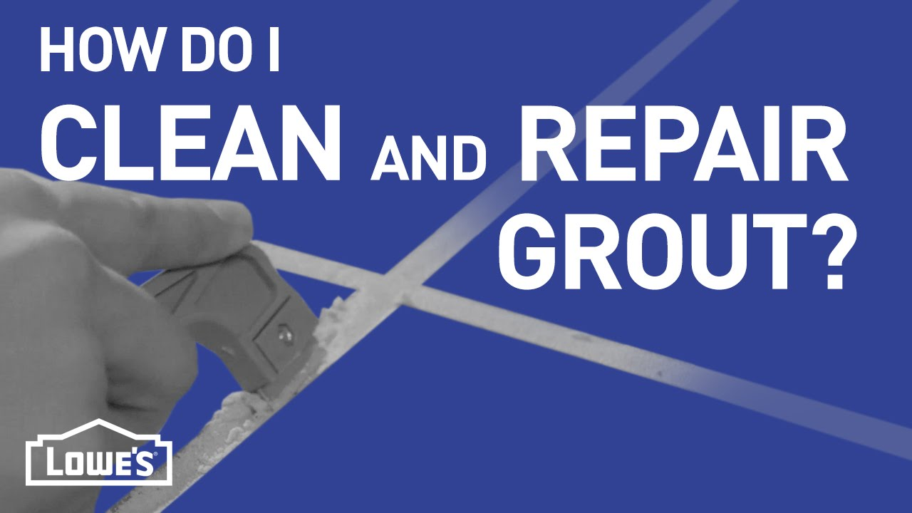 How Do I Clean and Repair Grout? | DIY Basics - YouTube
