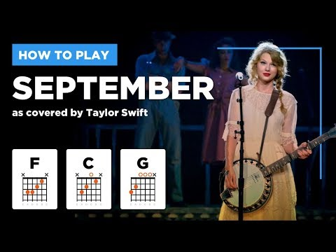 🎸 September • Taylor Swift guitar lesson w/ easy chords (cover of Earth Wind & Fire)
