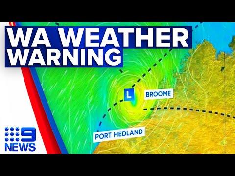 Western Australia cyclone warning | 9 News Australia thumbnail