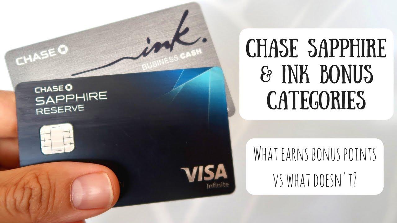 Chase Sapphire & Ink Bonus Categories | What Earns Bonus Points vs ...