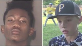 11 Year Old Boy Hits Robber with Machete Fending Him Off