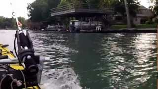 Ultimate Motorized Kayak Catamaran Test 5-25-12