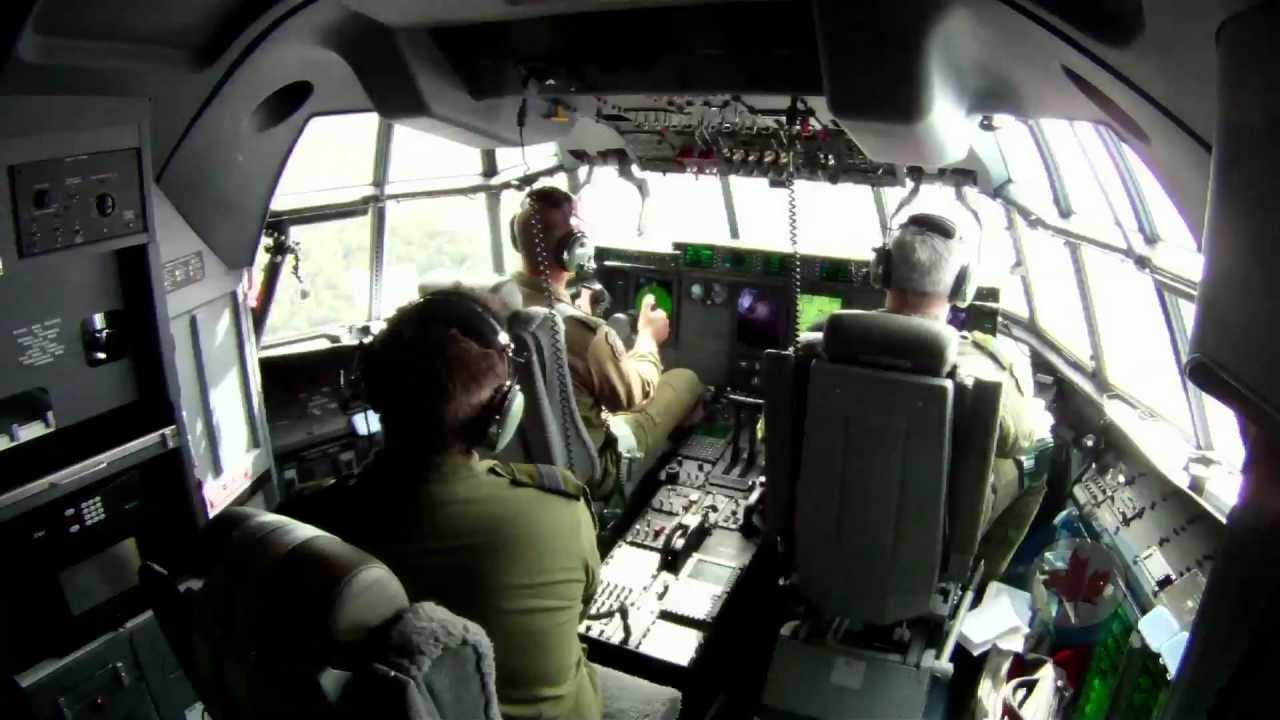 Rcaf Cc 130j Hercules At Work Youtube