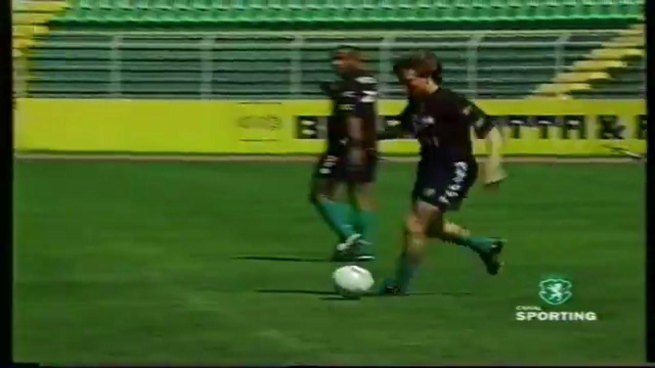 Sporting prepara jogo contra o Guimarães em 25/03/1999