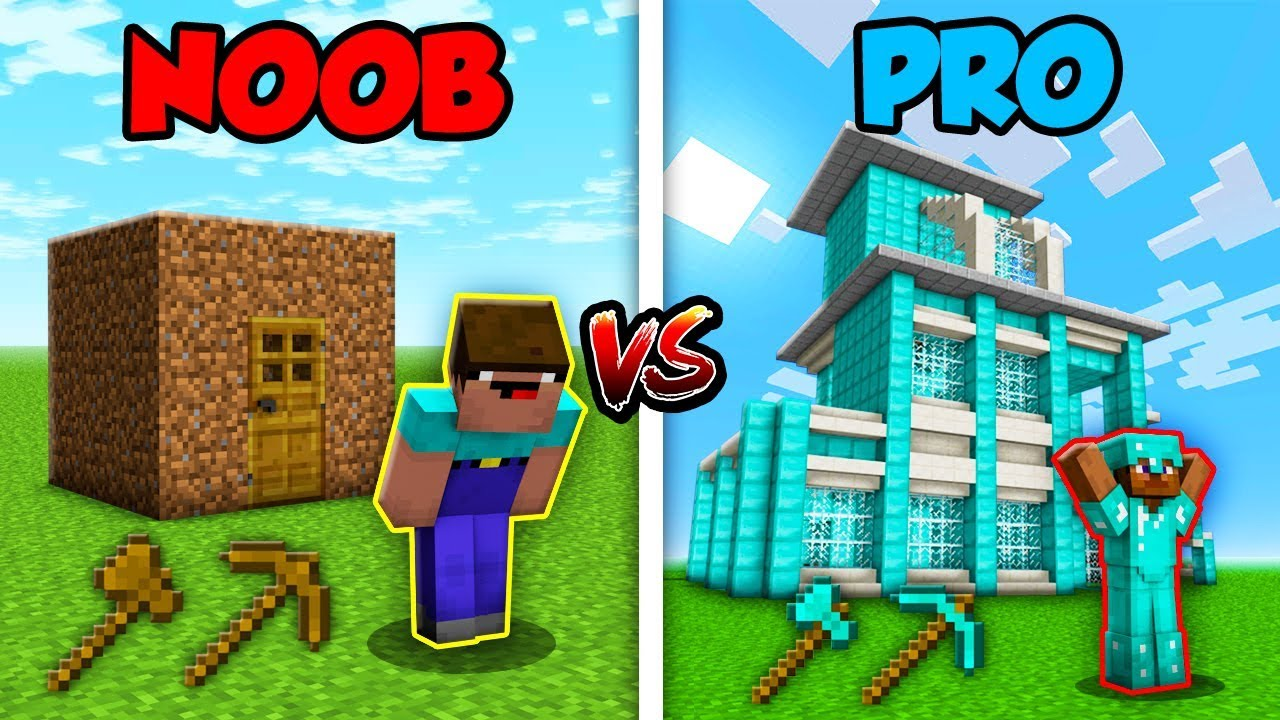 video minecraft noob vs pro