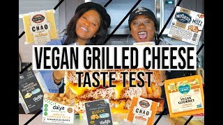 VEGAN CHEESE TASTE TEST! | GRILLED CHEESE