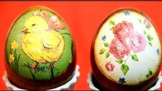 Как очень красиво покрасить яйца на Пасху