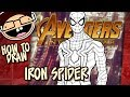 How to Draw IRON SPIDER (Avengers: Infinity War)   Narrated Easy Step-by-Step Tutorial