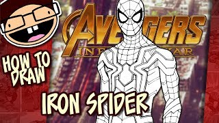 How to Draw IRON SPIDER (Avengers: Infinity War) | Narrated Easy Step-by-Step Tutorial