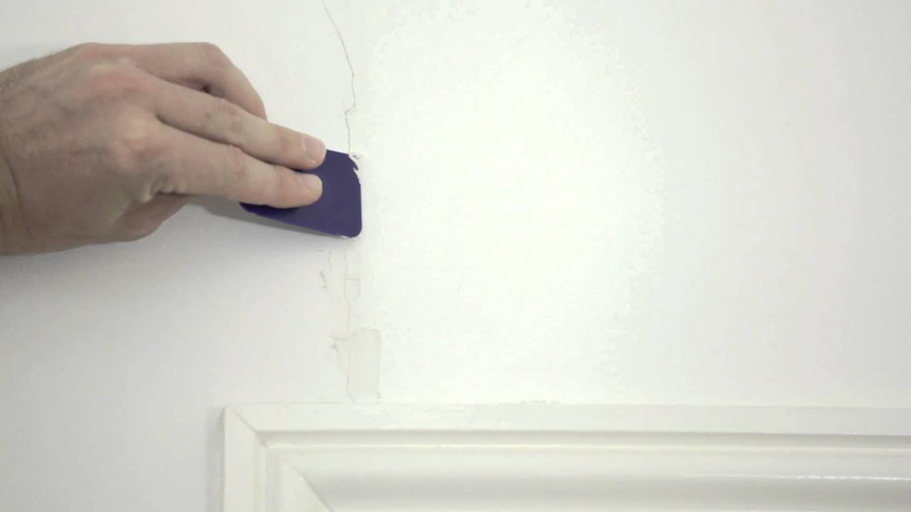 Filling small hairline crack in wall youtube How to fill a crack in the wall