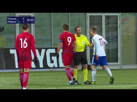 FSF Varpið: U21 Føroyar - Pólland 2-2 (Samandráttur)