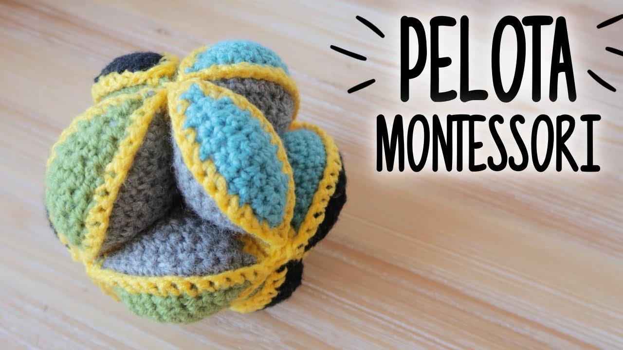PELOTA MONTESSORI a crochet (PUZZLE BALL) | tutorial PASO A PASO ...