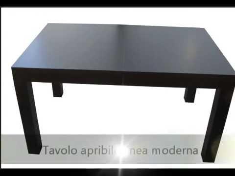 Tavolo artigianale linea moderna in color wenge for Tavolo wenge