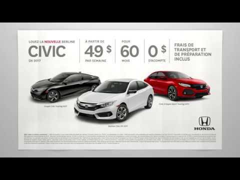 Offre Québec - Honda Civic DX 2017