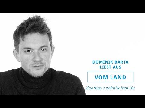 Dominik Barta liest aus Vom Land