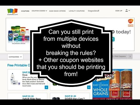 Can you Still Print From Multiple Devices Without Breaking the Rules? Tips on Printing Coupons