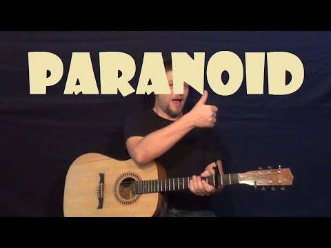 Paranoid (Ty Dolla $ign) Easy Guitar Lesson How to Play Tutorial