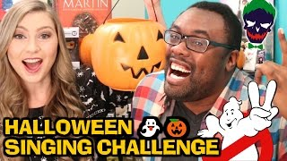 halloween singing challenge new suicide squad ghostbusters songs