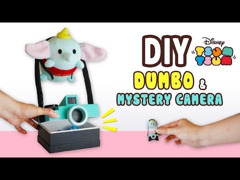 DIY Dumbo & Mystery Camera Storage Box(FREE PATTERN) Collab with Kawaii Felting - Tsum Tsum Plushie