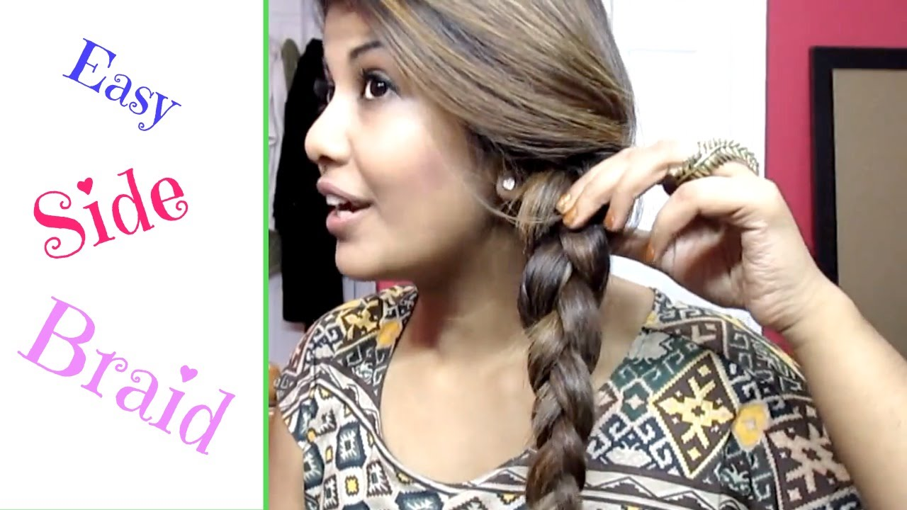 Easy Side French Braid Step By Step Youtube